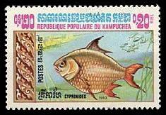 カンボジアの動物切手