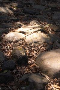 旧街道の石畳