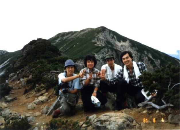 1981年8月4日、右端が私。: www.asahi-net.or.jp/~TY3K-SMY/photo11.html