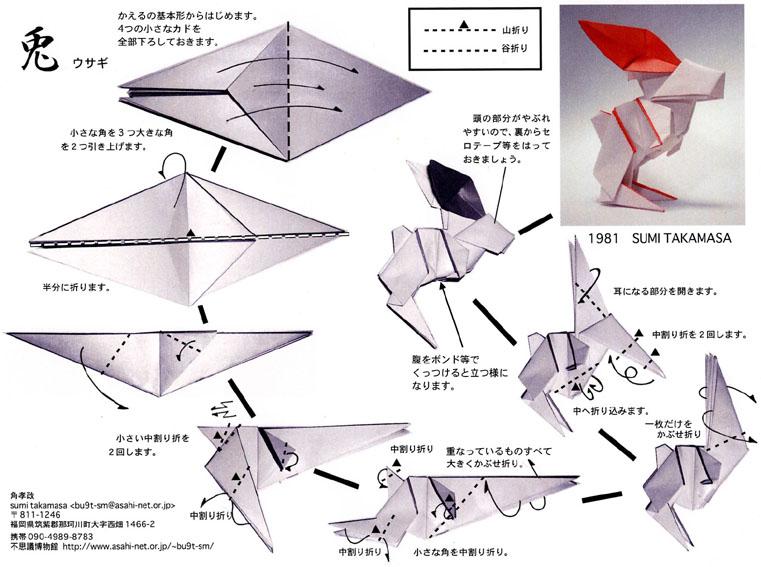 ハート 折り紙 折り紙 うさぎの折り方 : asahi-net.or.jp