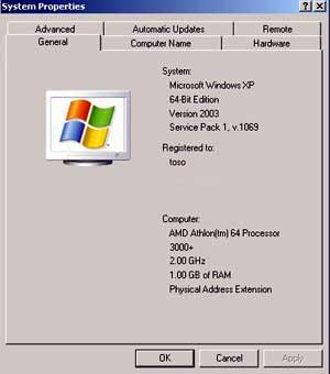intel и windows xp 64bit: