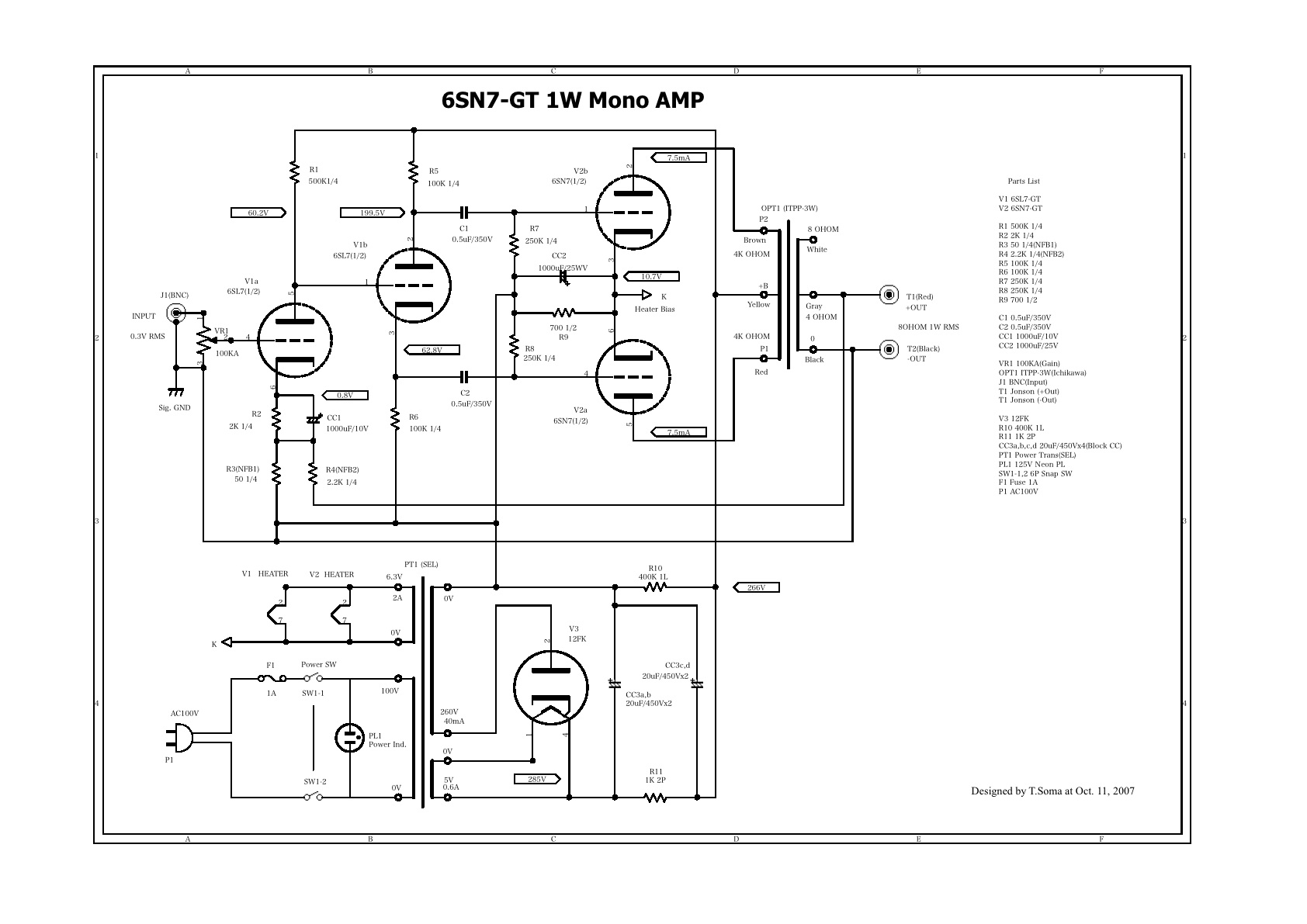 6sn7 Tube Preamp Schematic 6sn7 6n8s Schematic Preamp