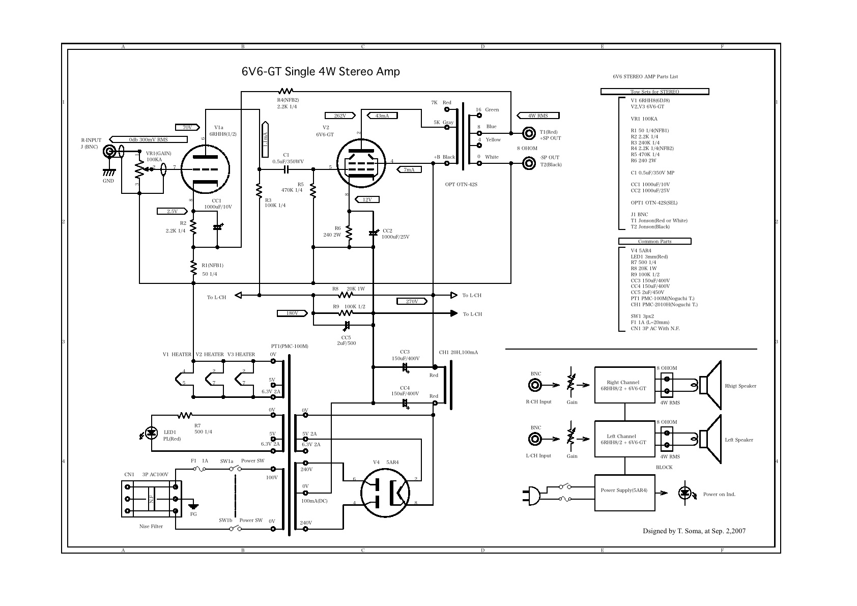6v6 4w stereo amp v0 0