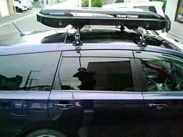 ローライダーFLEXをエクシーガに載せた状態(横から)
