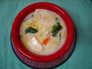湯葉の豆乳煮