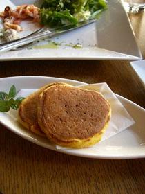 かぼちゃのパンケーキ(クリームチーズ添え)