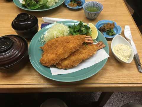 大エビフライ定食