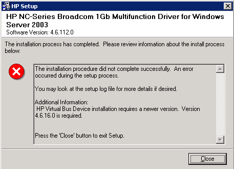 HP DL G5 - Broadcom 1Gb Drivers - Hewlett Packard Enterprise Community