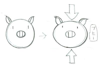 2頭身で動物のイラストを描いてみよう。2頭身のキャラを描くコツは手足の短さがポイントだよ。ここでは描きやすいブタさんを描いてみよう。