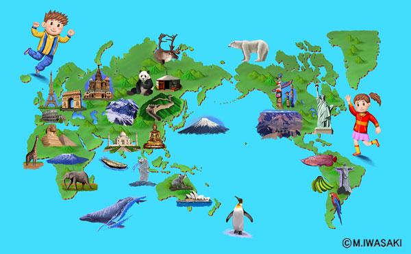 世界地図 子供の世界地図 : こども世界地図」